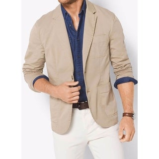 Michael Kors NEW Beige Mens Size 38 Two Button Slim-Fit Solid Blazer