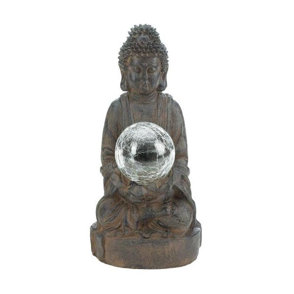 Solar Powered Buddha Garden Statue