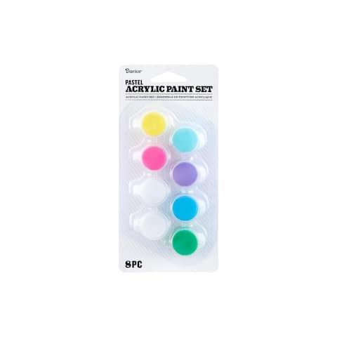 30074341 darice paint pot acrylic pastel 8pc