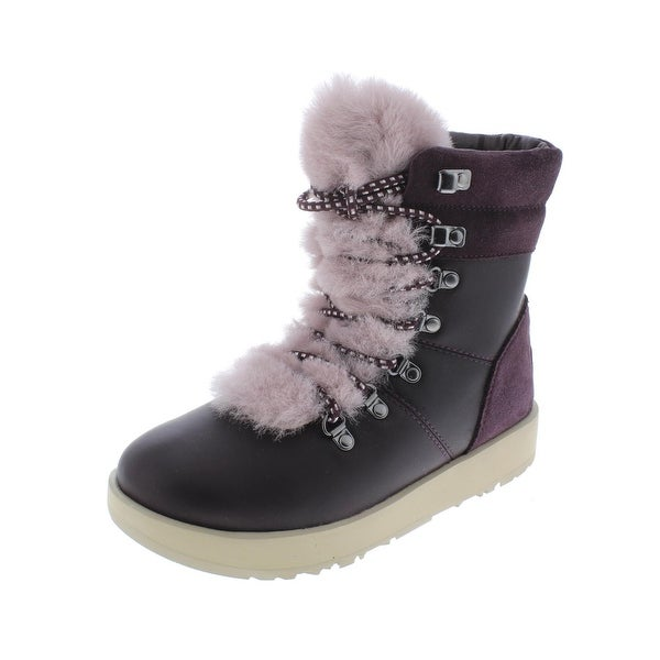 5bd04435fa2 Shop Ugg Womens Viki Ankle Boots Leather Waterproof - Free Shipping ...