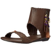 Very Volatile Women's Yulissa Mini-Wedge Sandal, Brown, Size 6.0 - 6
