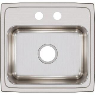 """Elkay LR1918  Lustertone 19"""" Single Basin Drop In Stainless Steel Kitchen Sink"""