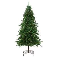 7.5' Pre-Lit Eden Spruce Artificial Christmas Tree - Clear Lights - green