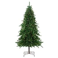 9' Pre-Lit Eden Spruce Artificial Christmas Tree - Clear Lights - green