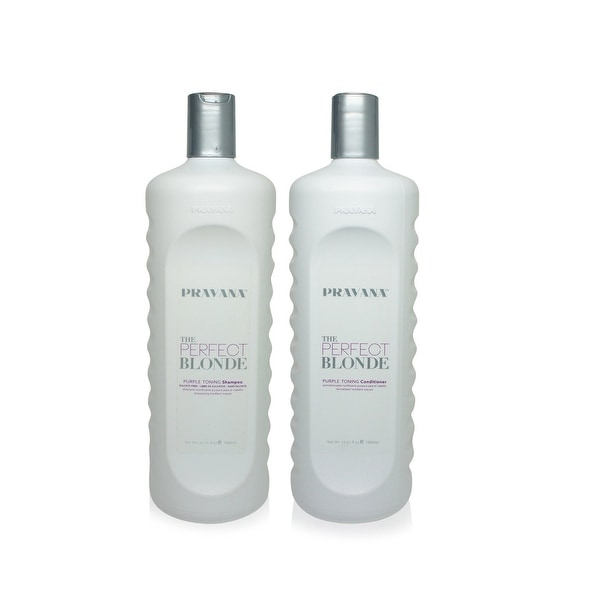 PRAVANA The Perfect Blonde Shampoo and Conditioner 1 33.8 Oz Combo Pack