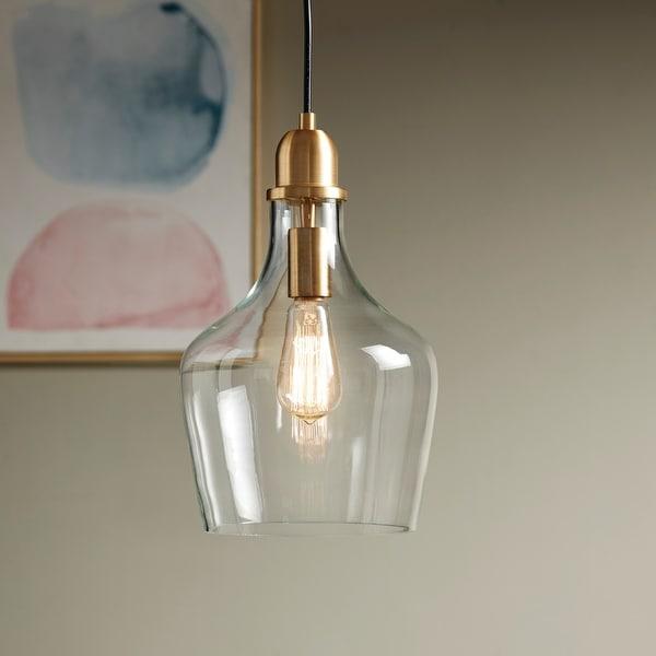 Abalone Glass Pendant Light by Hampton Hill. Opens flyout.