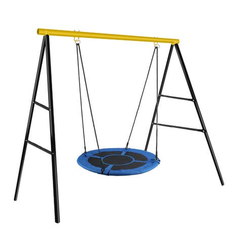 Extra Large Heavy Duty A-Frame Swing Frame Set Metal Swing Stand playground sets for backyards