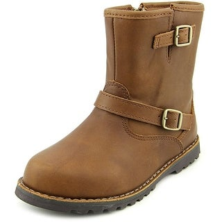 Ugg Australia Harwell Youth Round Toe Leather Brown Winter Boot
