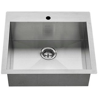 """American Standard 18SB.9252211 Edgewater 25"""" Single Basin Stainless Steel Kitchen Sink for Drop In or Undermount Installations"""