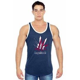 Men's USA Flag Legalize It Tank Top America Stars & Sripes Marijuana Pot Weed