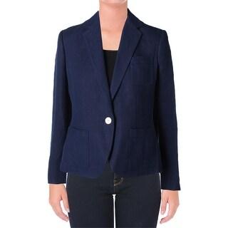 Lauren Ralph Lauren Womens Hermosa Jacket Linen Long Sleeves