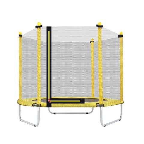 """60"""" Youth Kids Trampoline Combo, for Indoor/Outdoor Jumping Playing"""