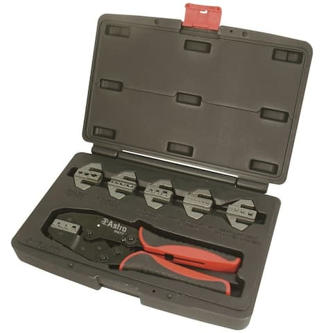 Astro 9477 astro 9477 professional quick interchangeable ratchet crimping tool set 7piece