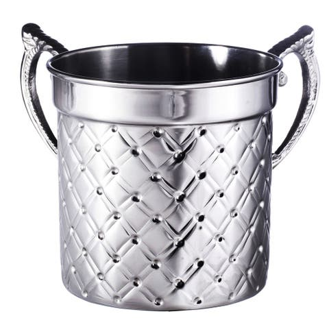 Washing Cup Nickel Plated - silver