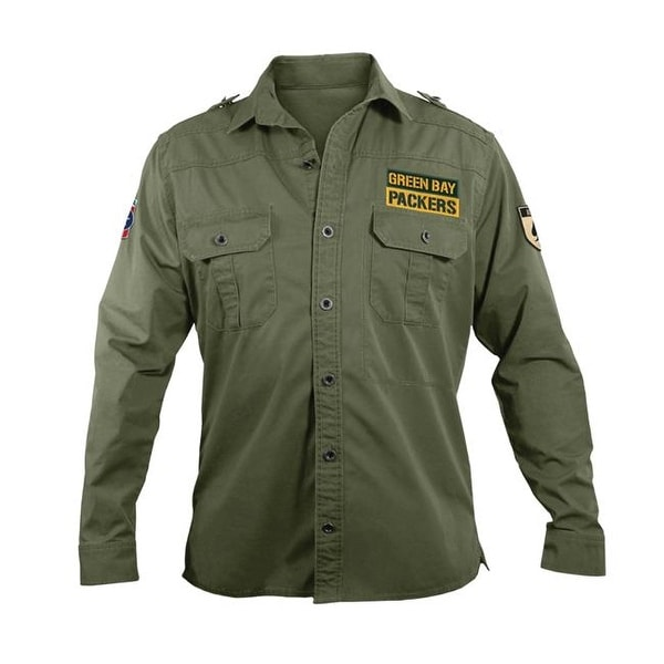 Shop Little Earth NFL Mens Military Shirt b718dfea9