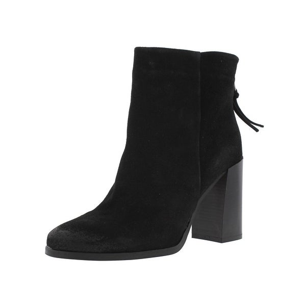 Steve Madden Womens Paidi Ankle Boots Suede Stacked