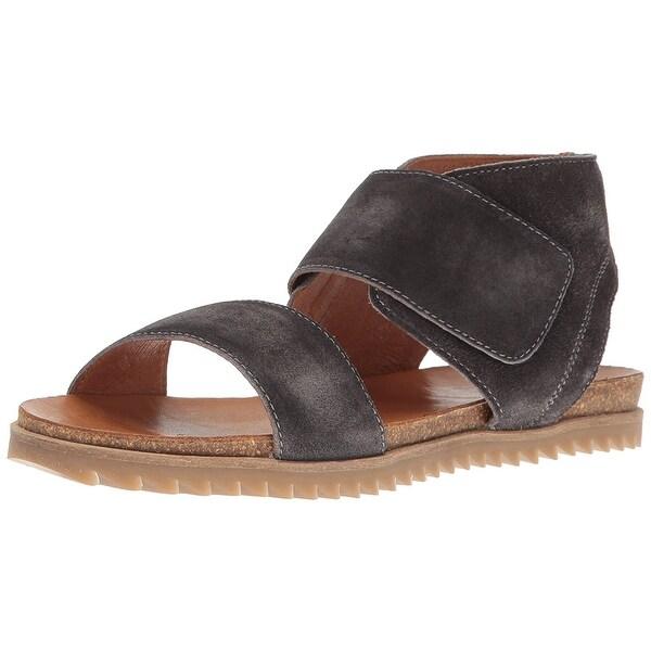 Miz Mooz Womens Roriee Suede Open Toe Casual Strappy Sandals