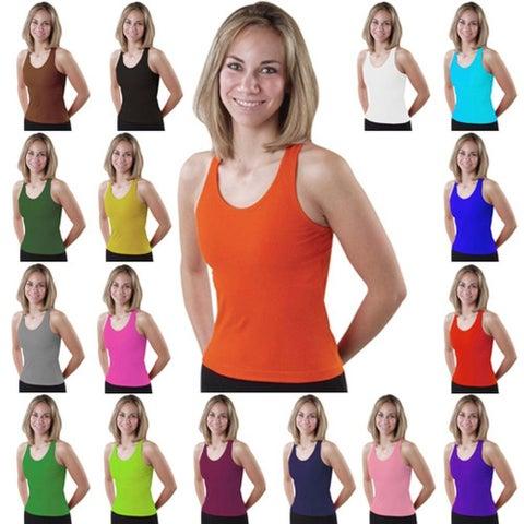 Pizzazz Womens Racer Back Cheer Dance Tank Top Shirt Adult S-XXL