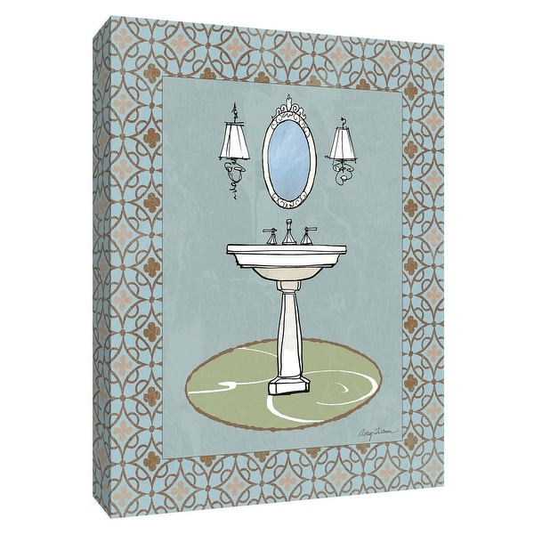 "PTM Images 9-154746 PTM Canvas Collection 10"" x 8"" - ""Chandelier Bath II"" Giclee Faucets Art Print on Canvas"