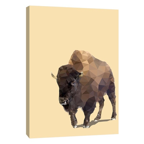 "PTM Images 9-109117 PTM Canvas Collection 10"" x 8"" - ""Fractal Bison"" Giclee Buffalo Art Print on Canvas"