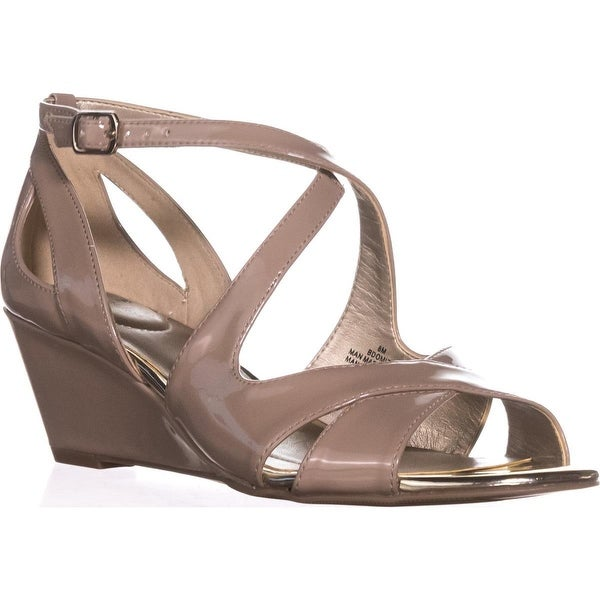 Bandolino Omit Strappy Wedge Sandals, Light Natural - 8 us