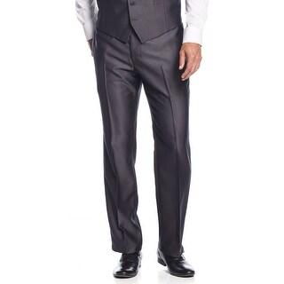 INC International Concepts London Shiny Dress Pants Charcoal Regular Fit