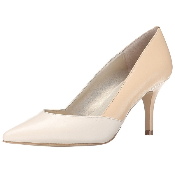 Tahari Womens Playful Leather Pointed Toe Classic Pumps