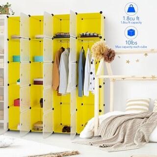 Link to Costway DIY 20 Cube Portable Closet Wardrobe Storage Organizer Clothes Similar Items in Laundry