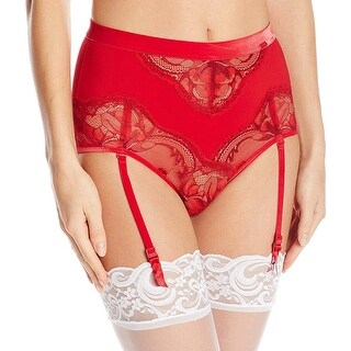 Calvin Klein CK Black Womens Embrace Hipster With Removable Garters Red