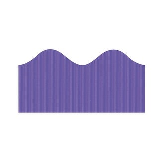 Bordette Pacon Scalloped Decorative Border, 2-1/4 in X 50 ft, Violet