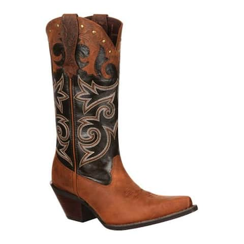 "Durango Boot Women's DRD0066 12"" Underlay Crush Distressed Brown Leather"