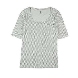 Tommy Hilfiger Womens Polka Dot Scoop Neck Casual Top