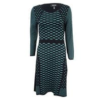 ff8903c5ae7 Shop Calvin Klein Women s Colorblocked Cable-Knit Sweater Dress ...