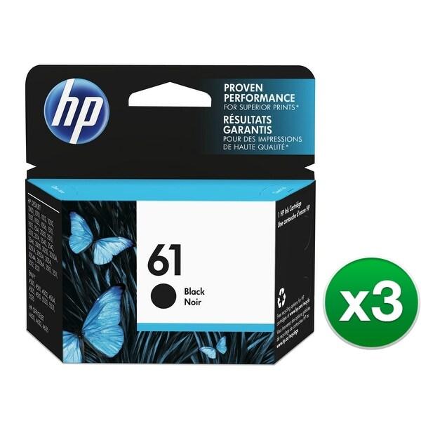 HP 61 Black Original Ink Cartridge (3-Pack) Ink Cartridge
