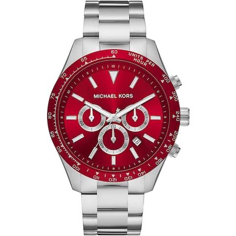 Michael Kors Men's Layton Red Dial Watch - MK8822 - One Size