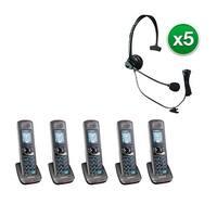 Uniden DCX400-5 with Headset 2 Line DECT 6.0 Extra Handset