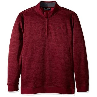 Under Armour NEW Red Mens Size Medium M Pullover 1/2 Zip Sweater