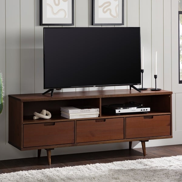 Carson Carrington Alby 58-inch Mid-century TV Console. Opens flyout.