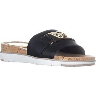 Michael Michael Kors Warren Flat Slide Sandals - Black