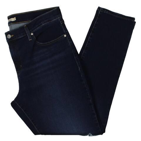 Levi's Womens Plus Skinny Jeans Denim Mid rise - Blue