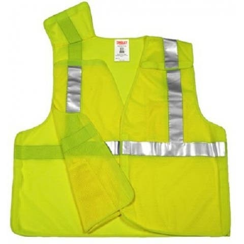 Tingley V70522-4X-5X 5-Point Breakaway Safety Vest, 4XL/5XL, Yellow & Green