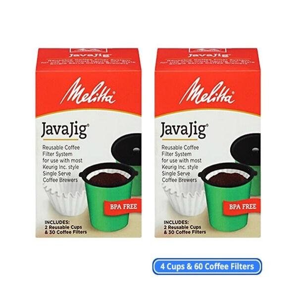 Melitta 63228 JavaJig Starter Kit (2-Pack) Single Serve Machine Coffee Filters Kit