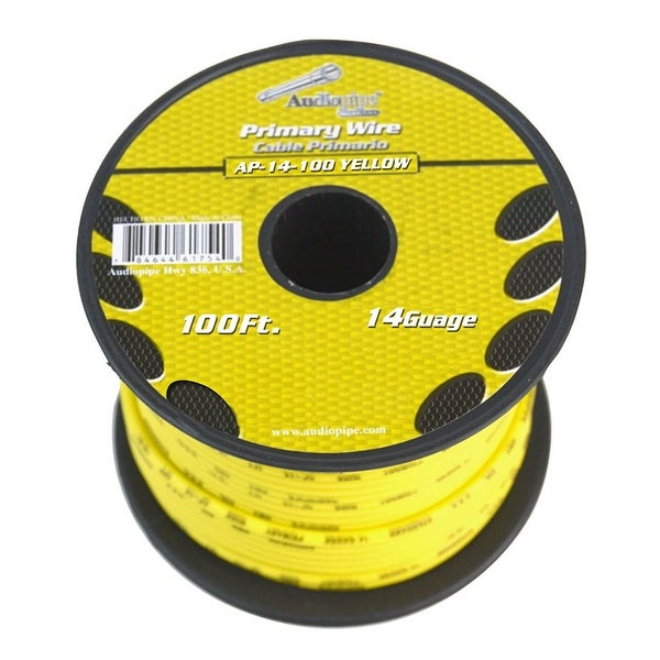 Audiopipe 14 Gauge 100Ft Primary Wire Yellow