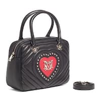 Moschino JC4039 100B Black/Red Satchel/Shoulder Bag - 12-8-5