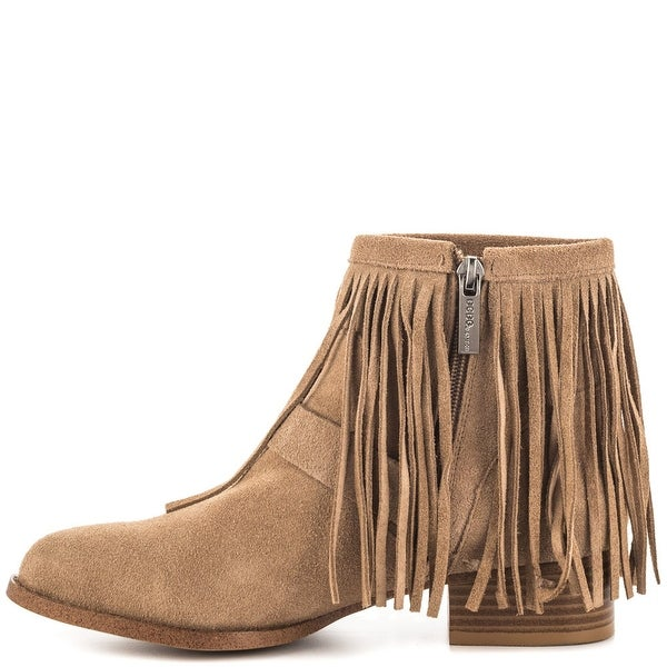 BCBGeneration Womens Capricorn Suede Closed Toe Ankle Fashion, Taupe, Size 9.5