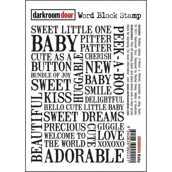 "Darkroom Door Cling Stamp 4.5""X3""-Baby"