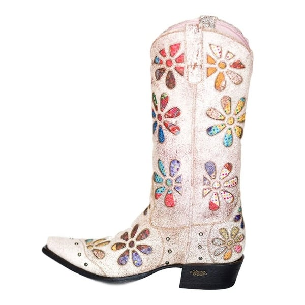 Miss Macie Fashion Boots Womens Whoop Si Daisy Floral Crackle
