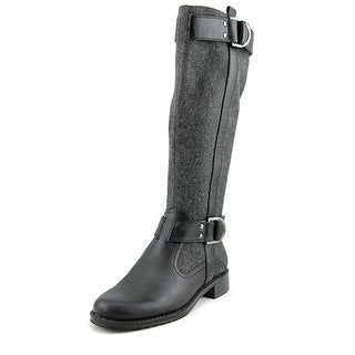 Aerosoles Ride Line Women  Round Toe Canvas Gray Knee High Boot