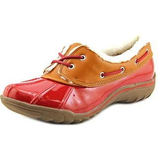 Anne Klein Sport Gamil Women Round Toe Patent Leather Water Shoe