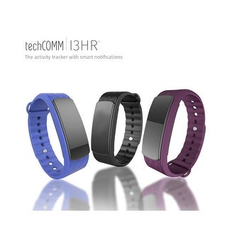 TechComm I3HR Water-resistant Fitness Tracker with Heart Rate Monitor, Sleep Monitor, Pedometer and Multiple Sports Modes